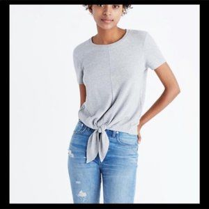 Madewell Texture & Thread Modern Tie-Front Top M